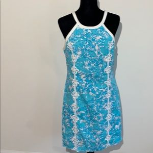 Lilly Pulitzer lace floral shift dress 10